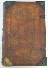 Antique 1798 Illustrated Bible in German Pigsking Hand Tooled Binding