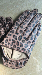 New (City Desires) Women's 100% Real Goatskin Leather Palm-Half Gloves