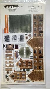 * BILT EEZI F4 Stone Hotel 2 mm scale Model N Gauge Card Kit
