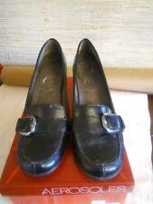 AEROSOLES Marianne Buckle Slip On Pumps Heels Black Women's Size 8.5