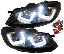 Sonar ORIGINALE VW GOLF 6 vi FARI LED LUCE DIURNA NERO BLACK R-LOOK