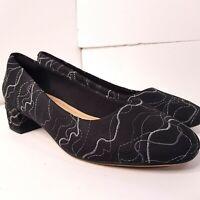 Clarks Orabella Alice Black Interest Leather Shoes Size UK 4 D (EU 37) RRP £65