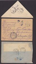 Russia WW2 soldiers envelopes covers x8 inc triangular + 2 cards (used & mint)