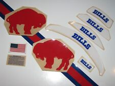 "Buffalo Bills Throwback ""Standing Buffalo"" Football Helmet Decal Set 3M 20Mil"