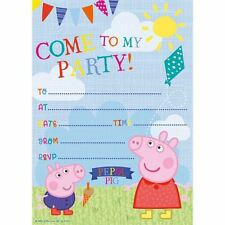Peppa Pig 20 party Invitations with envelopes