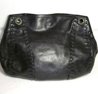 DESMO WOMEN'S SHOULDER BAG SOFT BLACK LEATHER HANDBAG