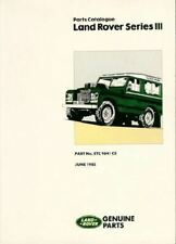 "Land Rover Series Iii Civilian Parts Catalog  ""New"""