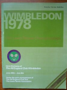 Wimbledon 1978 Official Tennis Championship Sixth Day Programme (1st July 1978)