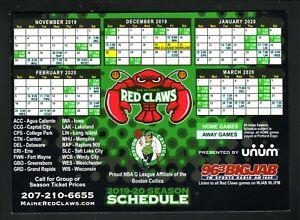 Maine Red Claws--2019-20 Magnet Schedule--Unum--G League--Celtics Affiliate