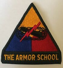 US Army - THE ARMOR SCHOOL - Shoulder Patch Armour Armoured Armored Insignia