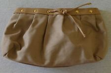 Yves Saint Laurent YSL Beige / Gold Make Up / toiletry Bag Great Condition