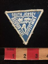 Vtg 1977 GREATER SOUTH JERSEY SWIM LEAGUE CHAMPS New Jersey Triangle Patch 84E
