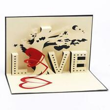 3D Card Love Tree Heart Lover Wedding Greeting Gift New Happy Cards