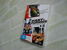 FAST & FURIOUS COLLECTION 1-3 - REGION 4 PAL - 3 DISC DVD
