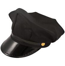 Men's Chauffeur Hat Limo Driver Black Peaked Cap Fancy Dress Costume Accessories