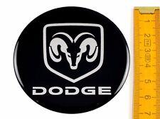 DODGE ★ 4 Stück ★ SILIKON Ø70mm Aufkleber Emblem Felgenaufkleber Radkappen