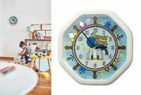Disney Donald Duck Automaton Wall Clock Contains Four Disney Songs RHYTHM Japan