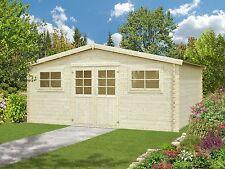 28 mm Gartenhaus 500x400 cm Gerätehaus Holz Holzhaus Schuppen Blockhaus Hütte