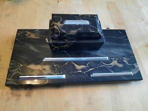 Schreibtischgarnitur Marmor ca. 3,3 kg inkl 2 Tintenfäßchen