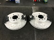 BMW 520 523 525 530D E60 E61 DRILLED GROOVED BRAKE DISCS AND BRAKE PADS FRONT