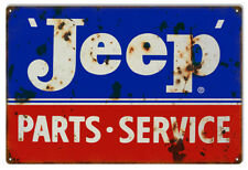 Jeep Service Reproduction Garage Shop Man Cave Metal Sign - 18 x 30 In RVG194