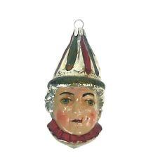 Rare Antique German Figural Glass Christmas Ornament Boy Child's Head Painted