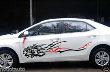 Car Beauty Face flames Door Decal for Corolla Vinyl Graphic Motor sticker ZC1034