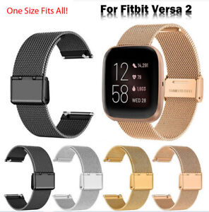 Strap For Fitbit Versa / Versa 2 Lite Milanese Smart Watch Band Loop Replacement