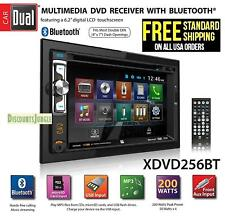 "Dual Xdvd256Bt Double DIN 6.2"" LCD Touchscreen Bluetooth, CD/DVD USB Car Stereo"