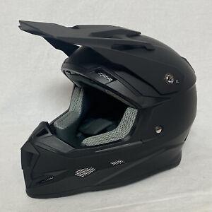 NEW GLX Youth XL Motorcycle MotoCross Dirt Bike Helmet GX723 DOT Matte Black