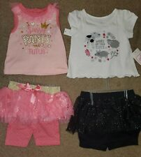 Baby Girl Summer Outfits Clothes Size 12 Months Nwt 2 Outfits