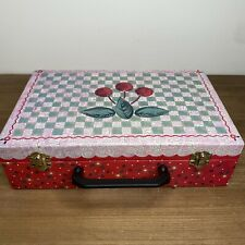 1997 Mary Engelbreit Cherries Suitcase Box Case