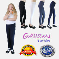 Girls Full Length Cotton Leggings School 3 4 5 6 7 8 9 10 11 12 13 14 15  Years