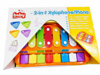 2 IN 1 PIANO XYLOPHONE EDUCATIONAL MUSICAL INSTRUMENTS TOY FOR BABY TODDLER