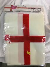 English  bunting 33ft flag decoration 20 flags 10 metres worldcup football St Ge