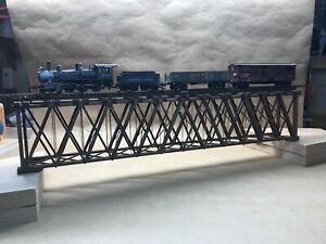 HO Scale 154' (21.25 inches) Howe Deck Truss Bridge, Detailed, Well Built.