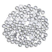100 Stück Rund Nieten Ziernieten Schmucknieten Hohlnieten DIY 8,5mm -Silber