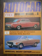 AUTOCAR 22 APR 1971 Mercedes 350 SL Chrysler 180 Lemans Caravan Rally Grand Prix