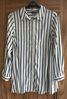 EVANS New Black White Striped Blouse Shirt Top Business Work Plus Size 18 - 28
