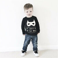 Batman T Shirt Kid Toddler Baby Boy Clothing Clothes Jumper Sweatshirt 2-6 Years
