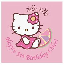 Hello Kitty Personalised x1 Edible Cake Topper Icing Sheet  Square 20cm