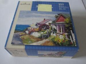 """Hallmark 500 Piece Puzzle """"Village Gems"""" New"""