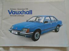 Vauxhall range brochure Oct-Dec 1978 Chevette, Viva, Cavalier, Carlton. Royale