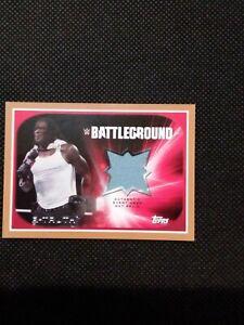 2015 Topps WWE Battleground R-Truth Mat Relic #'d 46/50