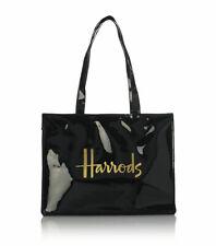 Harrods 1384866 Signature Logo Tote Bag Black