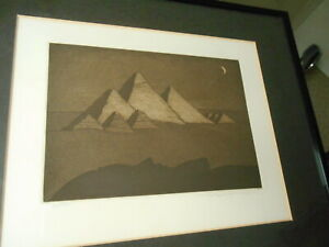 """""""An Egyptian Landscape"""" Michael Foreman Etching & Aquatint on Copper 275/500"""