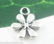 KUS:50 Antiksilber Blume Anhänger Charms für Armband Kette Halskette 13x11mm