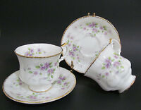 Paragon Malandi Teacup and Saucer Gilded Violets English China England 2 sets