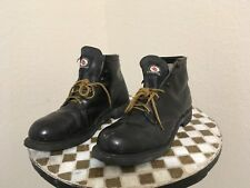 USA RED BIRD STEEL TOE DISTRESSED MOTORCYCLE ANKLE BOSS BOOTS 10.5 D