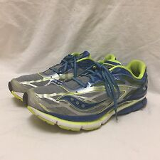 Saucony Cortana 4 Power Grind Gray/Blue/Green Running Shoes Sneakers Sz 11.5